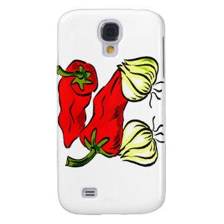 Hot Chili Pepper and Onion Graphic Galaxy S4 Case