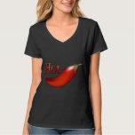 Hot Chili Pepper Ladies Black T-shirt