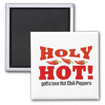 hot chili peppers 2 inch square magnet
