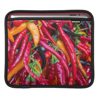 Hot Chili Peppers At Farmers Market In Madison iPad Sleeve