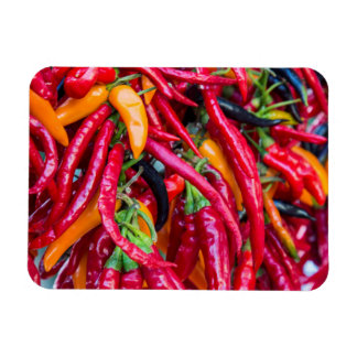 Hot Chili Peppers At Farmers Market In Madison Magnet