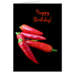 Hot Chili Peppers Birthday Greeting Card