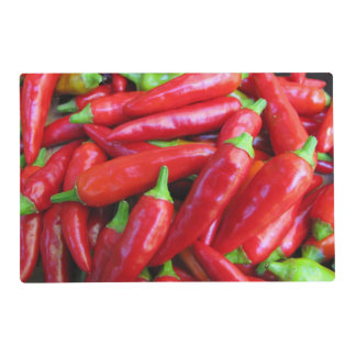 Hot Chili Peppers Laminated Placemat