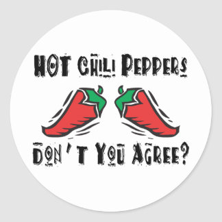 Hot Chili Peppers Round Stickers