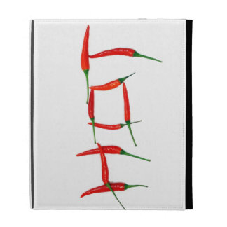 """""""Hot"""" chili peppers top street foodie chef iPad Folio Case"""