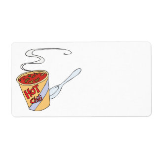 hot chili personalized shipping label