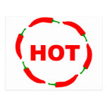 Hot chilies! postcards