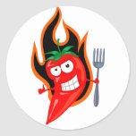 Hot Chilli Classic Round Sticker