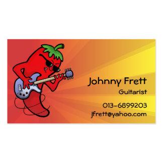 Hot Chilli Guitarist Business Card Templates