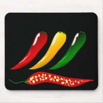 hot Chillies Mouse Pad