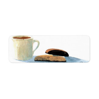 Hot Chocolate and Biscotti Return Address Label