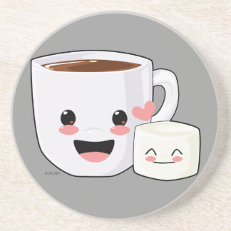 Hot Chocolate and Marshmallow Coaster