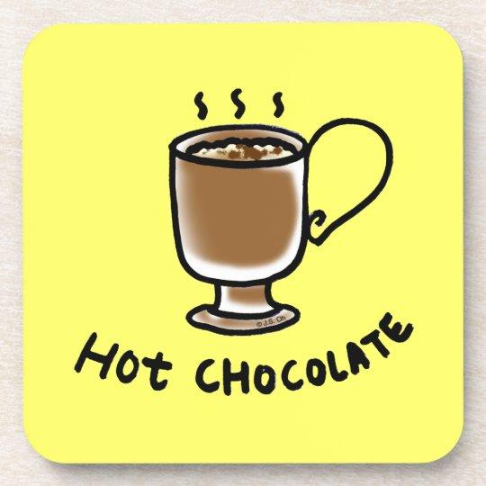 hot chocolate beverage coaster
