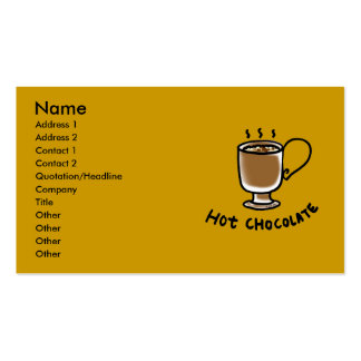 Hot chocolate Double-Sided standard business cards (Pack of 100)