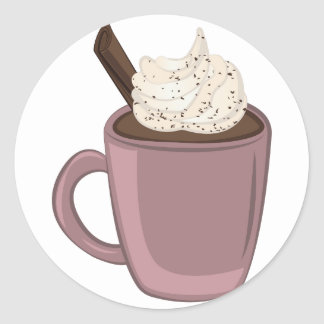 Hot Chocolate Classic Round Sticker