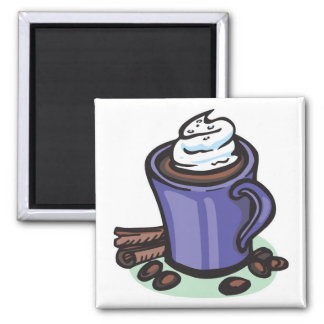 hot chocolate cocoa 2 inch square magnet