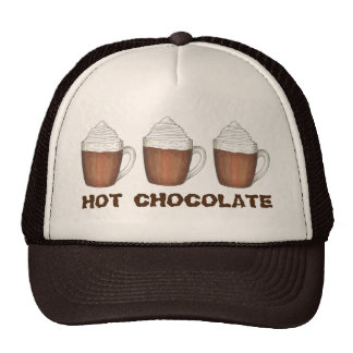 Hot Chocolate Cocoa Mugs Chocoholic Winter Hat