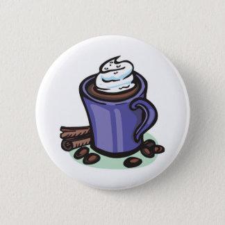hot chocolate cocoa pinback button