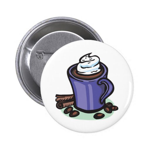 hot chocolate cocoa pinback buttons