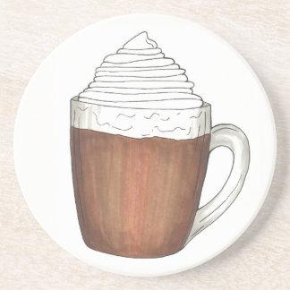 Hot Chocolate Cocoa Warm Winter Holiday Drink Coaster