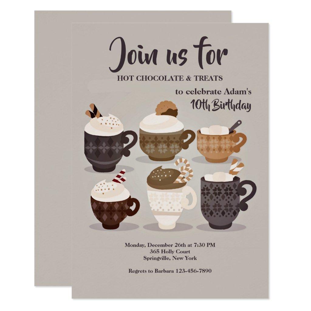 Hot Chocolate Cups Invitation