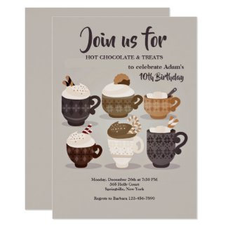Hot Chocolate Cups Invitation