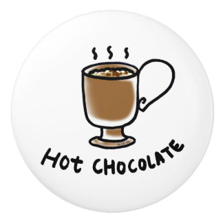 hot chocolate drink ceramic knob