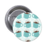 Hot Chocolate Happiness Pattern 2 Inch Round Button