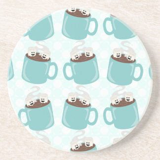 Hot Chocolate Happiness Pattern Drink Coaster