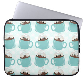 Hot Chocolate Happiness Pattern Laptop Computer Sleeve