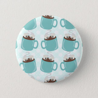 Hot Chocolate Happiness Pattern Pinback Button