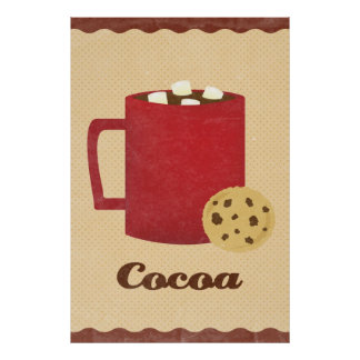 Hot chocolate illustration posters