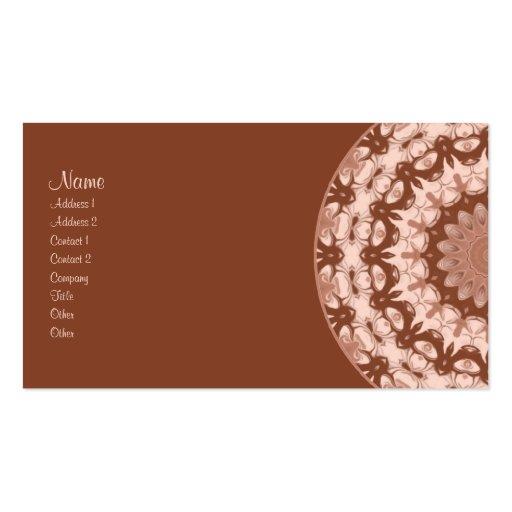 Hot Chocolate Kaleidoscope Business Card