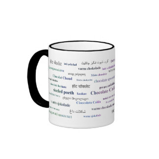 Hot Chocolate Mug in different languages (3 color)