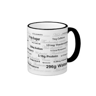 Hot Chocolate Nutrition Mug (made with water)
