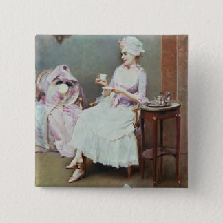Hot Chocolate (oil on canvas) Pinback Button