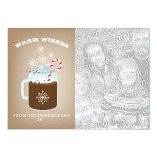 Hot Chocolate Photo Christmas Card