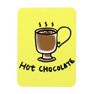 hot chocolate rectangular photo magnet