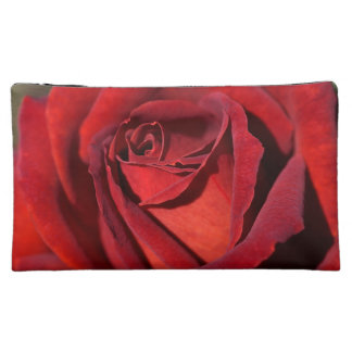 Hot Chocolate Rich Red Rose Cosmetic Bag