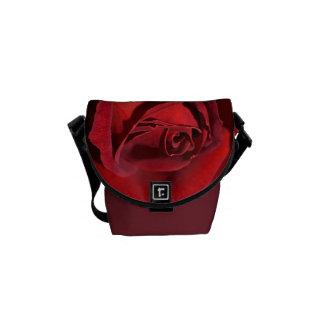 Hot Chocolate Rich Red Rose Mini Messenger Bag
