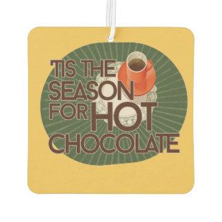 Hot chocolate season air freshener