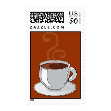 Coffee Themed hot chocolate stamp
