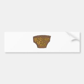 HOT-CHOCOLATE-UNDERPANTS-LOGO-1st-draft-2-29-2016. Bumper Sticker