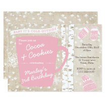 Hot Chocolate Winter Birthday Party for Girl Invitation