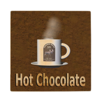 Hot Chocolate Wooden Coaster