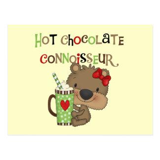 Hot ChocolateConoisseur Girl Bear Postcard