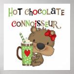Hot ChocolateConoisseur Girl Bear Poster