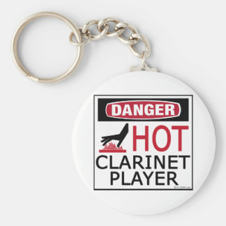 Hot Clarinet Player Basic Round Button Keychain