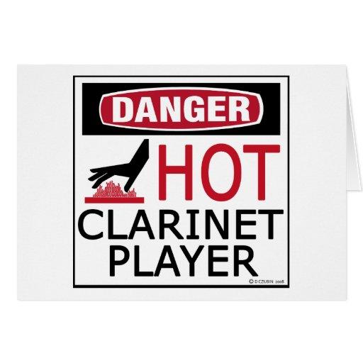 Hot Clarinet Player Greeting Card