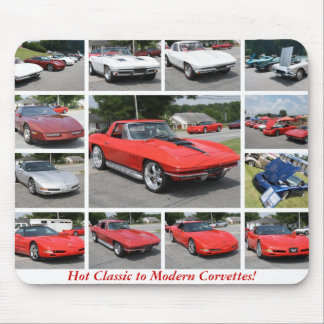 Hot Classic to Modern Corvettes Mouse Pad 2